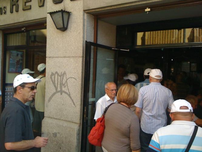 Inundando de usuarios los bares de Madrid