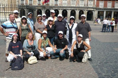 Foto de grupo en la Plaza Mayor