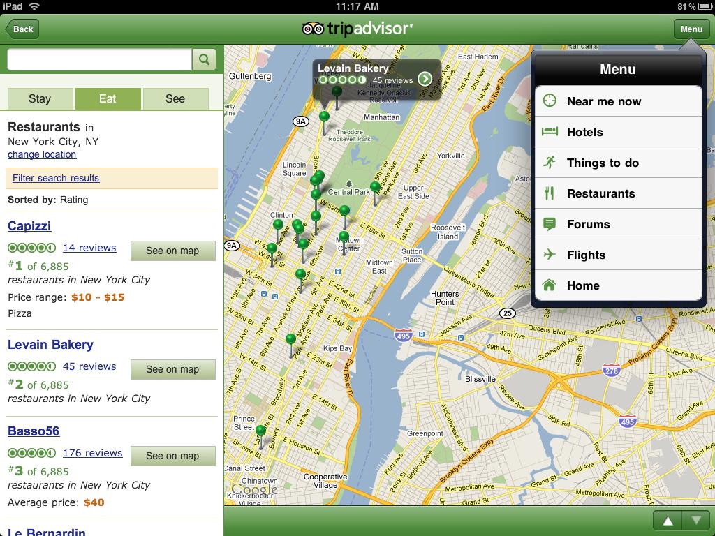 tripadvisor mapa Lanzamos aplicación gratuita de TripAdvisor para iPad   El blog de  tripadvisor mapa
